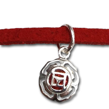 Root Chakra Charm Bracelet or Anklet Silver Free Size