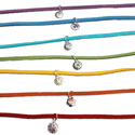 Chakra Charm Anklets or Bracelets Silver and Colored Stones Free Size Set of 7
