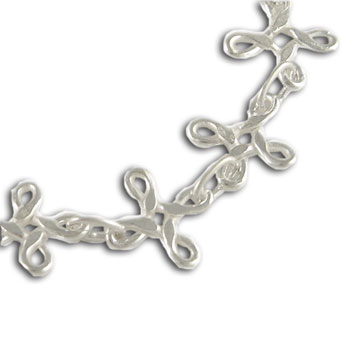 Eternal Knots Anklet Sterling Silver