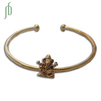 Ganesh Cuff Bangle Bracelet Recycled Br