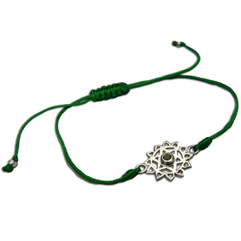 Heart Chakra Bracelet Adjustable Green