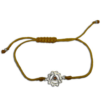 Solar Plexus Chakra Bracelet Adjustable Yellow