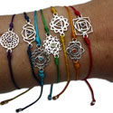 Chakra Bracelet Set of 7 Adjustable