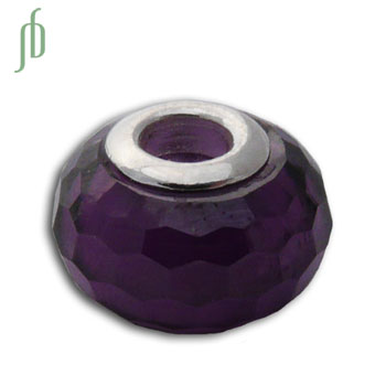 Faceted Crown Chakra Purple Bead 5 mm hole