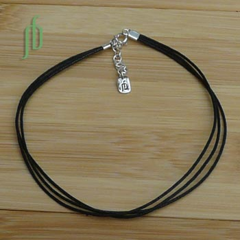 3 String Anklet Black
