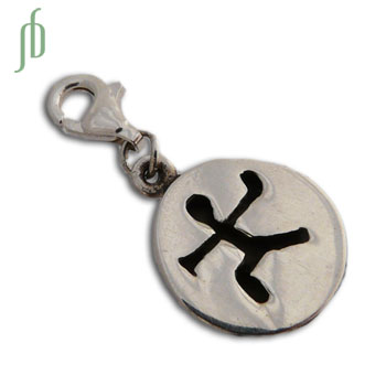 Charmas Warrior Pose Charm Silver with lobster clasp