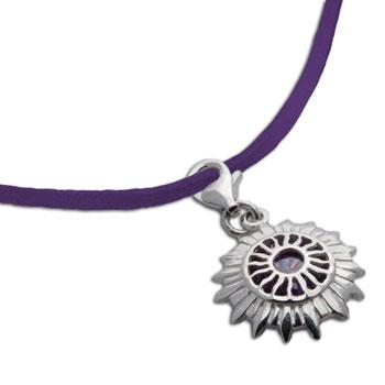 Crown Chakra Necklace Purple Adjustable 16-17