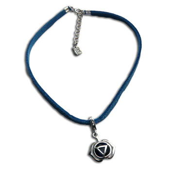 Forehead Chakra Anklet Blue Adjustable Silver Clasp 9 to 10 Inches