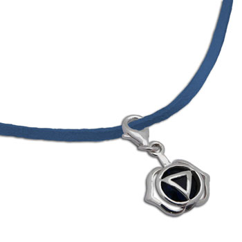 Forehead Chakra Necklace Blue 16-17