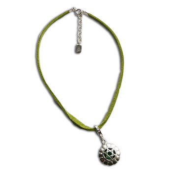 Heart Chakra Anklet Green Adjustable Silver Clasp 9 to 10 Inches