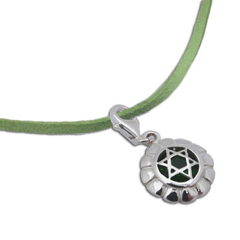 Heart Chakra Necklace Green 16-17
