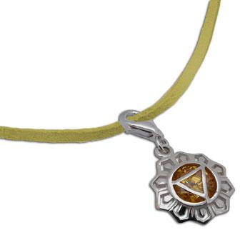 Solar Plexus Chakra Necklace Yellow 16-17