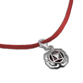 Root Chakra Necklace Red Adjustable 16-17