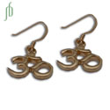 Om Earrings Gold Vermeil