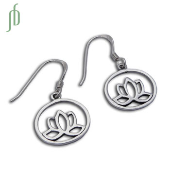 Enlightenment Lotus Earrings Sterling Silver