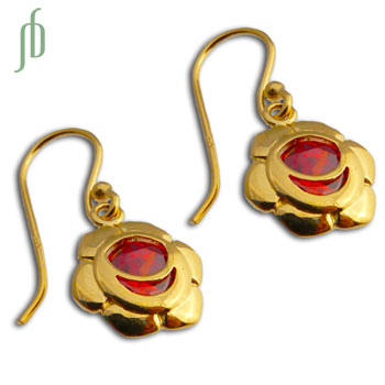 Good Vibes Sacral Chakra Earrings Gold Vermeil