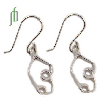 Bow Pose Earrings Sterling Silver