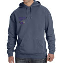 Feathered Pipe Ranch Hoodie Pullover Pigment Dye Denim Blue