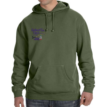 Feathered Pipe Ranch Hoodie Pullover Pigment Dye Hemp