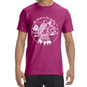 ORGANIC Feathered Pipe T-shirt Short Sleeve Unisex Retro Raspberry