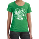 Feathered Pipe Ranch T-shirt Short Sleeve Women's Retro Green Apple