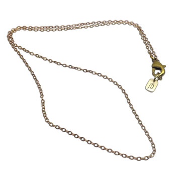 Recycled Brass Chain Fine 17 inches