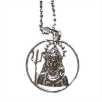 Bliss Shiva Necklace Silver with 16 inch ball chain
