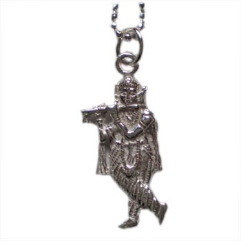 Enchantment Krishna Necklace Silver with 16 inch ball chain