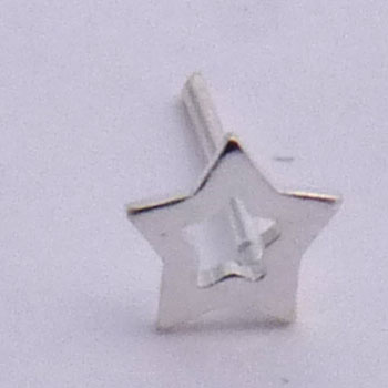 Silver Nose Stud Straight Star Nose Rings Shanti Boutique