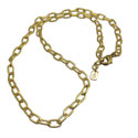 Charmas Necklace Base Oval Chain Recycled Brass17""