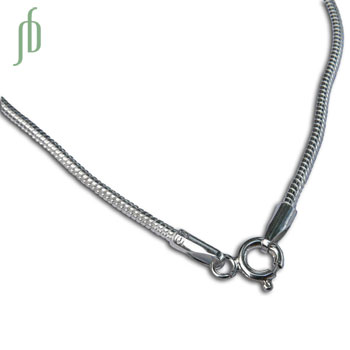 Silver Snake Chain Necklace 22 Inches