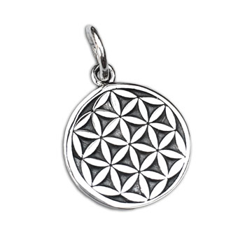 Flower of Life Pendant Silver 14 mm