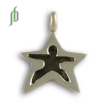 Warrior Pose Pendant Star Tag