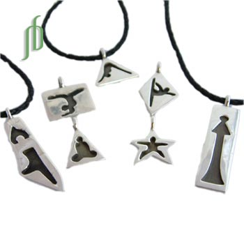 Yoga Pendants Yoga Tags Set Sterling Silver