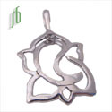 Ganesh Pendant Clarity Sterling Silver