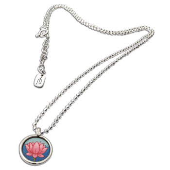 Lotus Painting Necklace