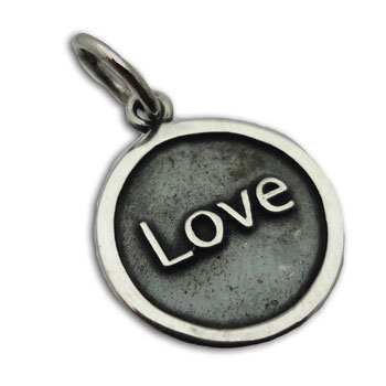 Love Pendant 15 mm Sterling Silver