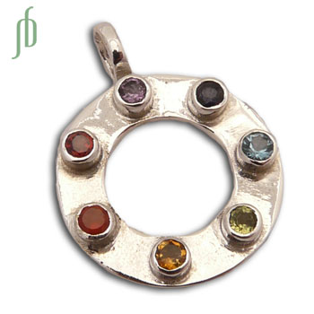 New Circle of Happiness Chakra Pendant Sterling Silver