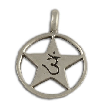 Forehead Chakra Om Pendant Sterling Silver