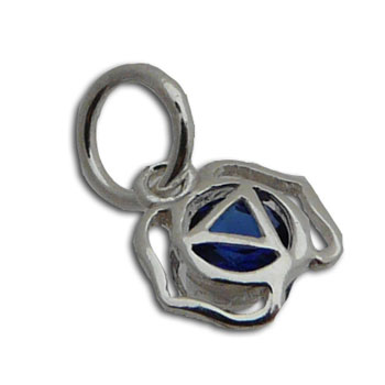 Forehead Third eye Chakra Charm with 5 mm jump ring