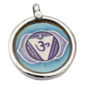 Forehead Chakra Painting Pendant Silver