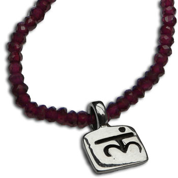 Root Chakra Necklace Garnet Gemstone 18 Inches