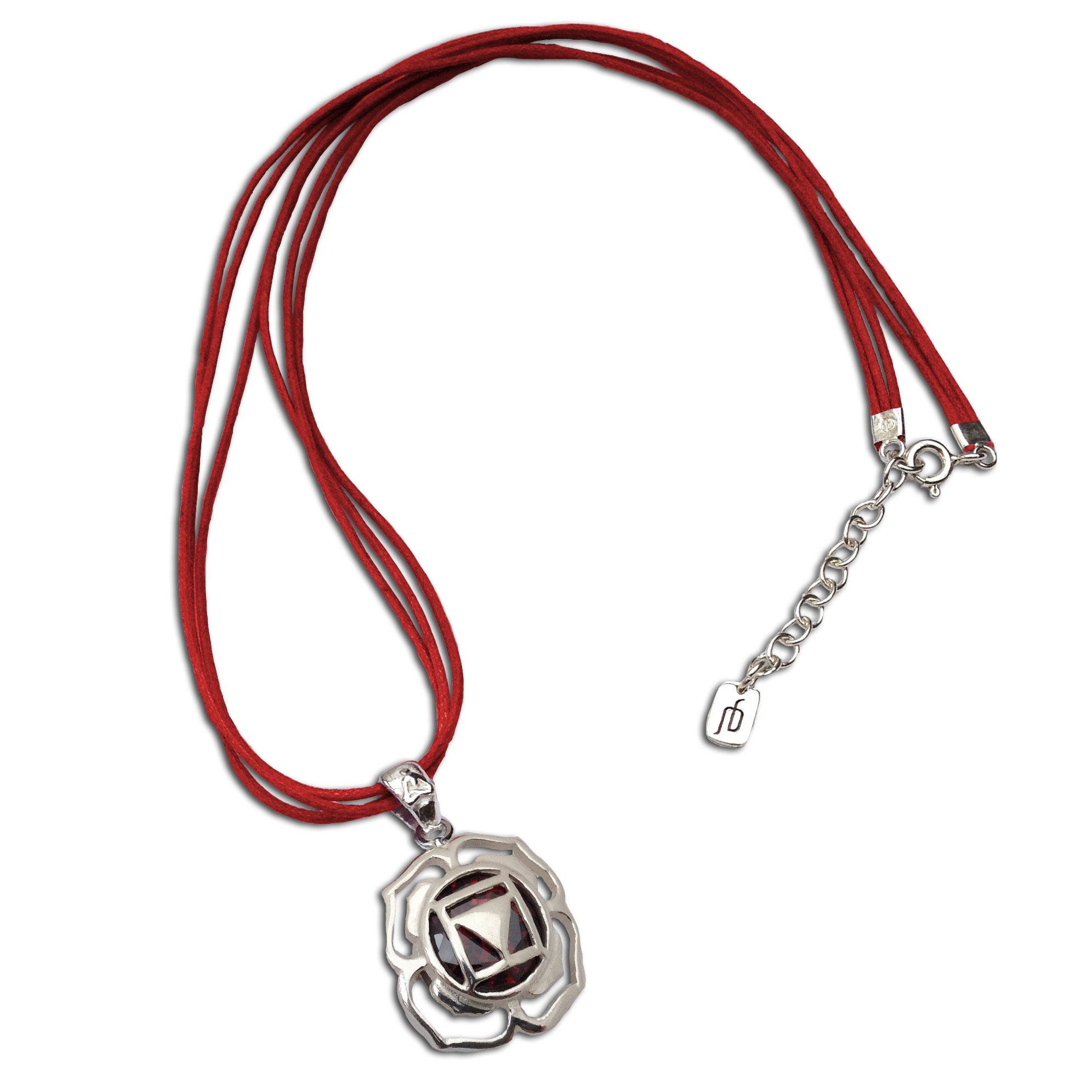 Root Chakra Stone Necklace Adjustable 16 to 17 inches