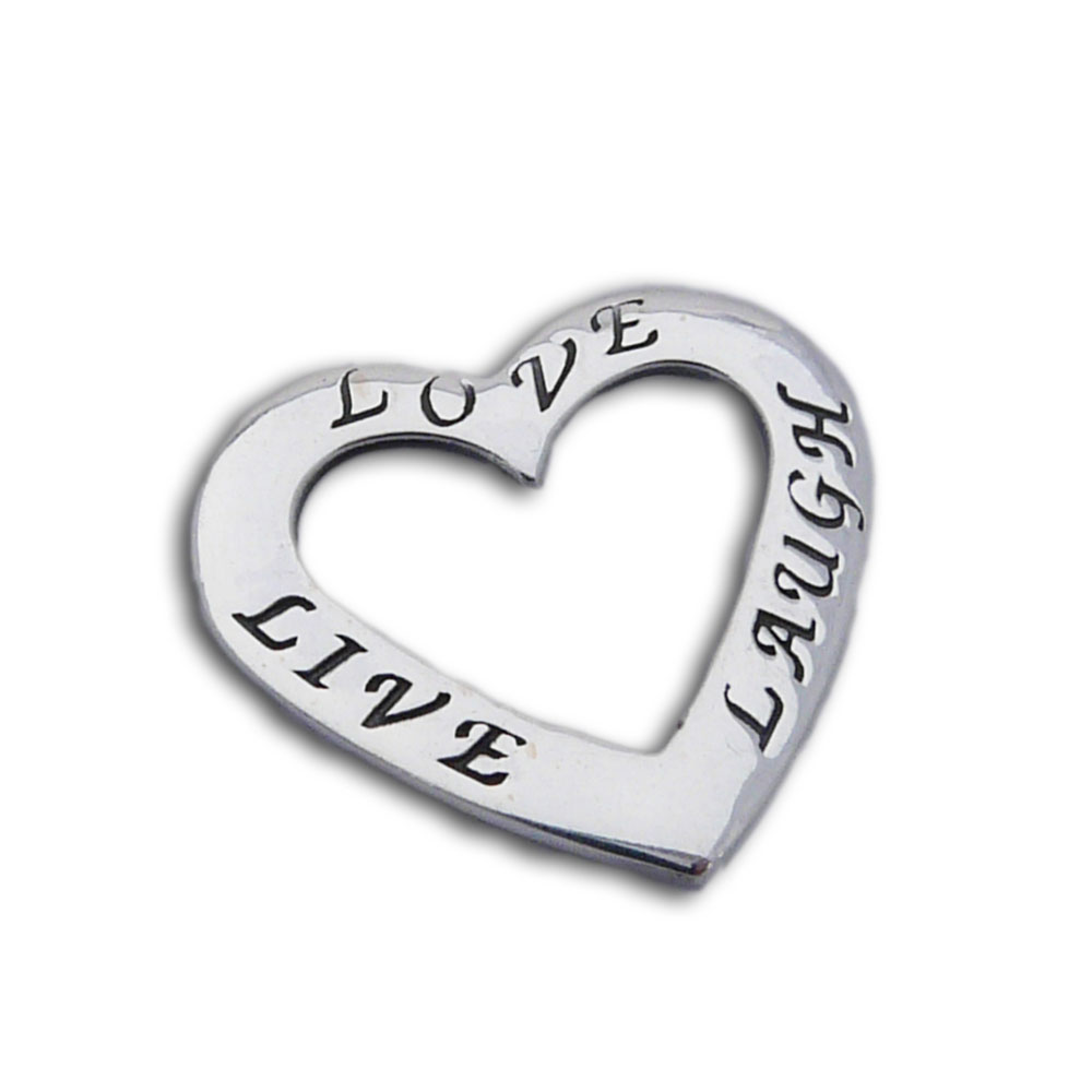 Live love laugh heart pendant silver love nature shanti boutique live love laugh heart pendant silver zoom aloadofball Gallery