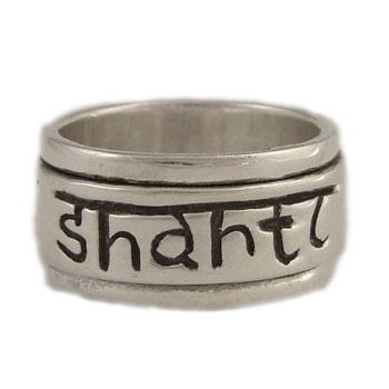 Om Shanti Spinner Ring