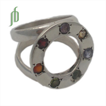 Circle of Happiness Chakra Ring Size 9 SALE